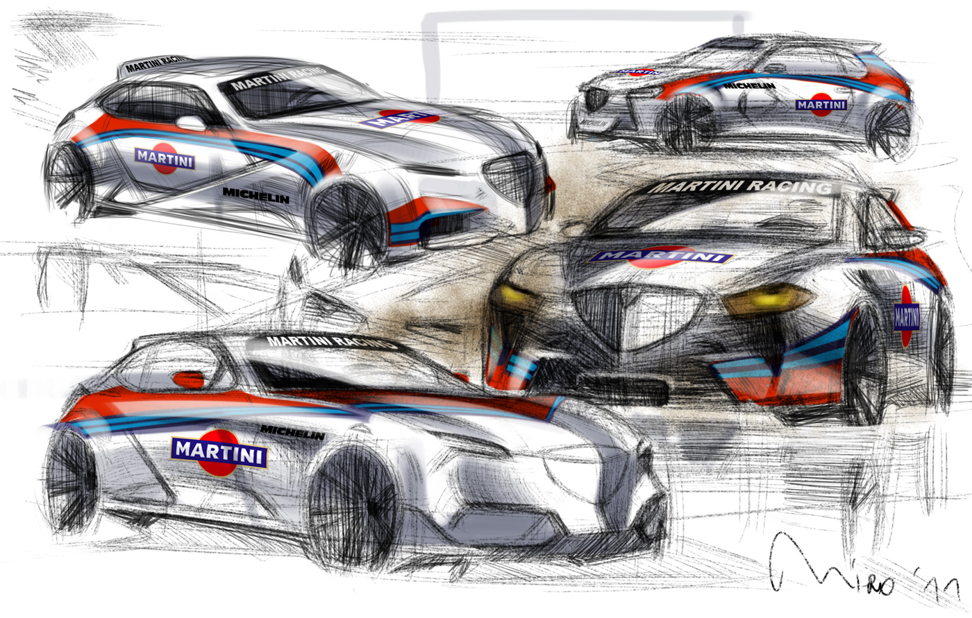 Lancia Martini Racing, Design Sketch