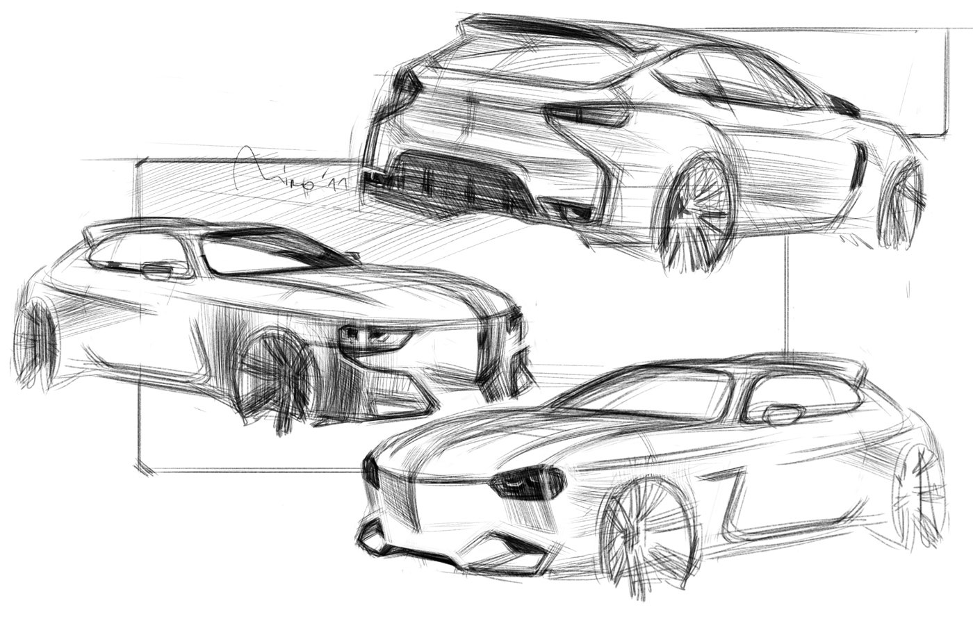Lancia Rally Design Sketch