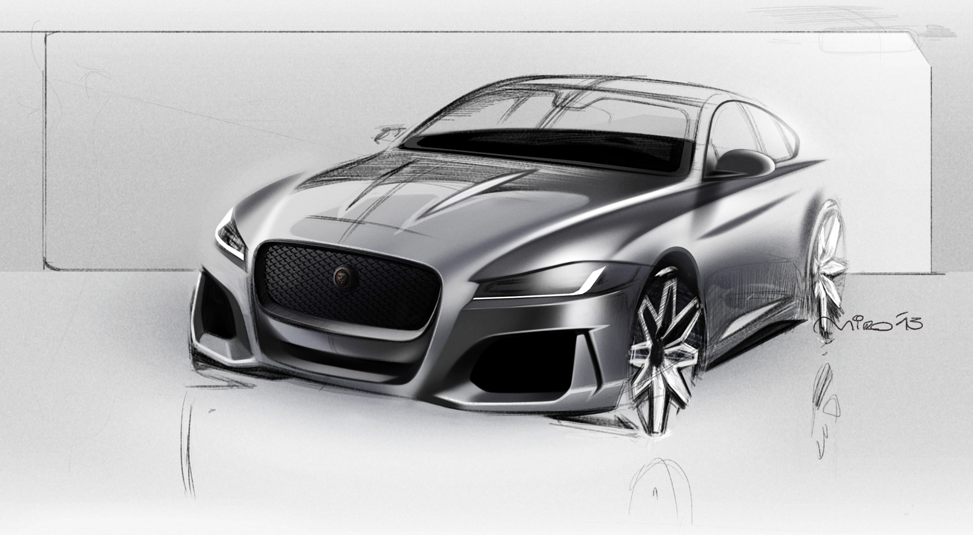 2016 Jaguar XF Exterior Design Sketch