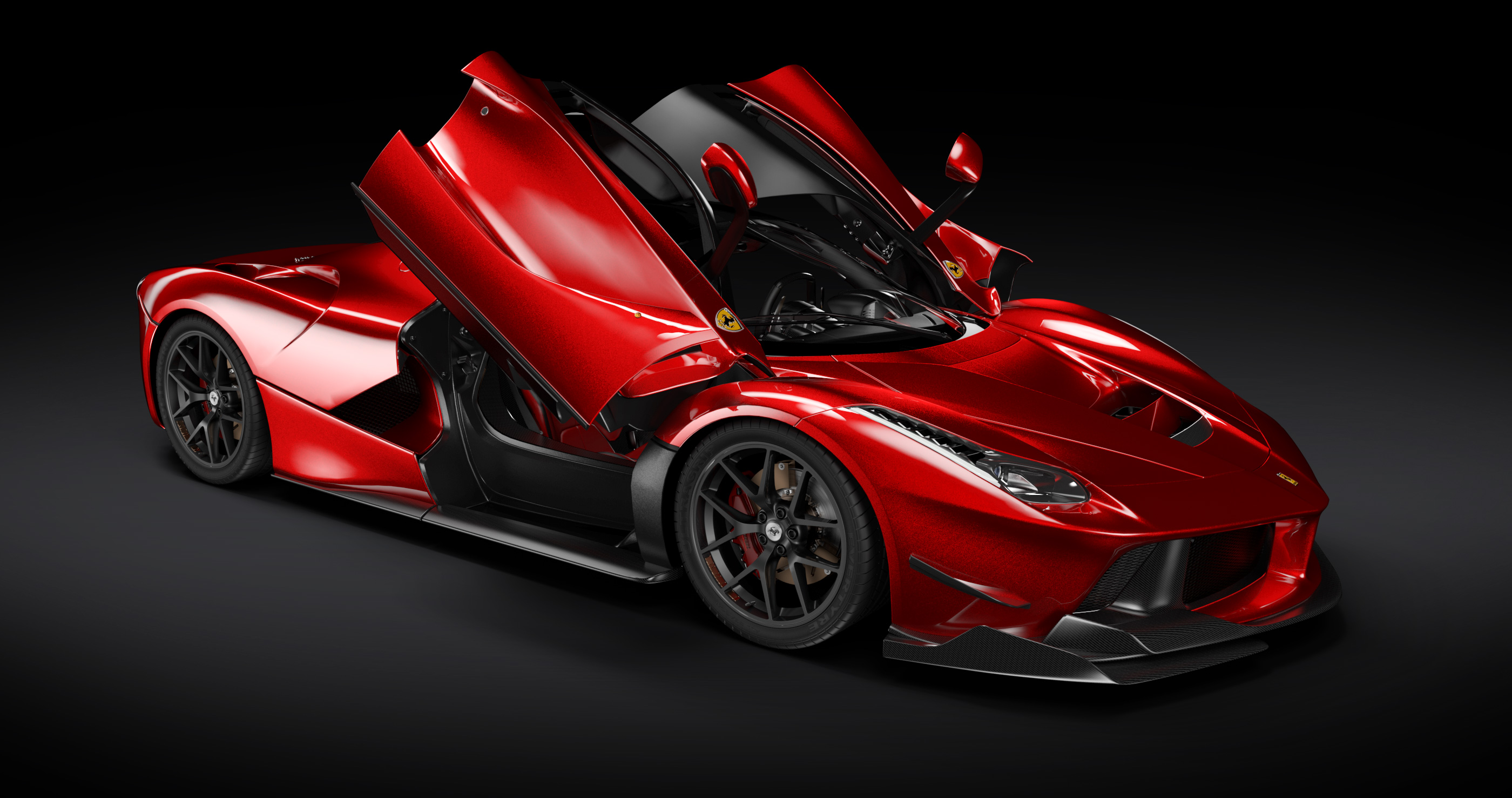 Ferrari LaFerrari 3D Model, VRED Rendering Test