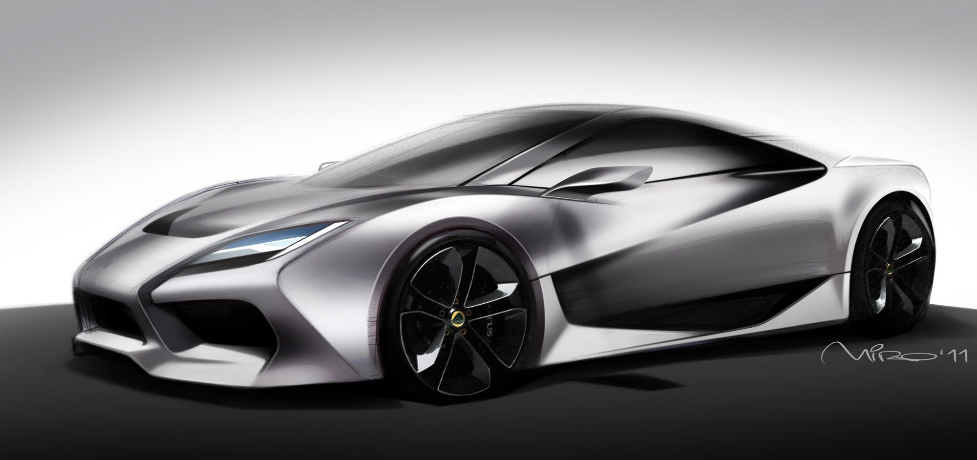 Lotus Esprit Design Sketch by Miroslav Dimitrov
