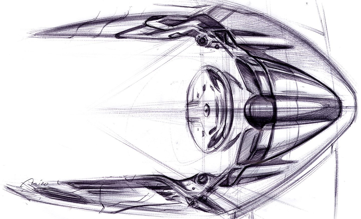Ferrari 458-Interior Design Sketch by Miroslav Dimitrov