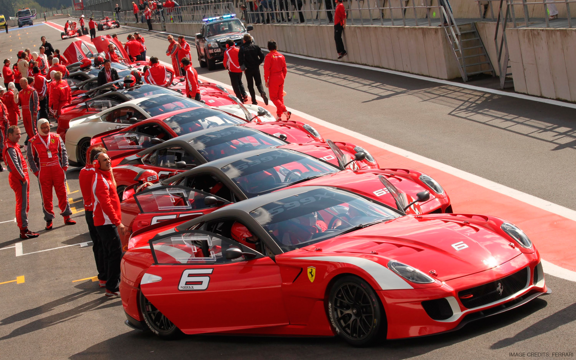 Ferrari 599XX with Corse Clienti on the Race Track