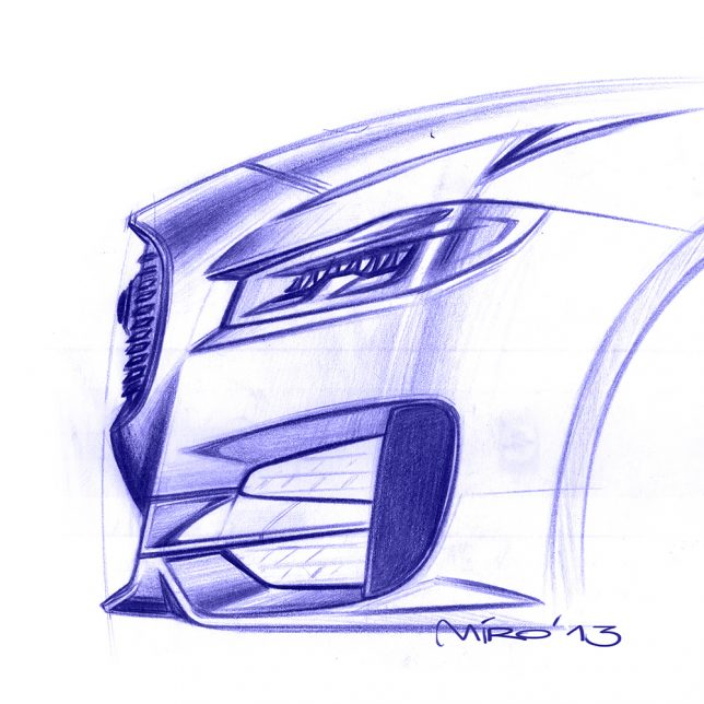 Jaguar XF Exterior Design Pencil Sketch by Miroslav Dimitrov