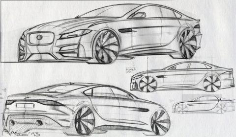 Jaguar XF Exterior Design Sketch by Miroslav Dimitrov