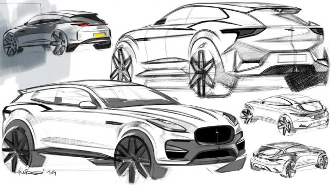 Jaguar E-Pace Design Sketches by Miroslav Dimitrov