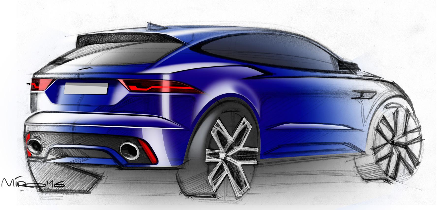 Jaguar E-Pace Design Sketches by Miroslav Dimitrov