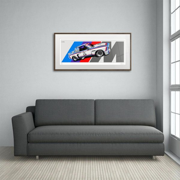 1975 BMW 3.0 CSL Artwork by Miroslav Dimitrov