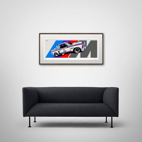 1975 BMW 3.0 CSL Artwork by Miroslav Dimitrov