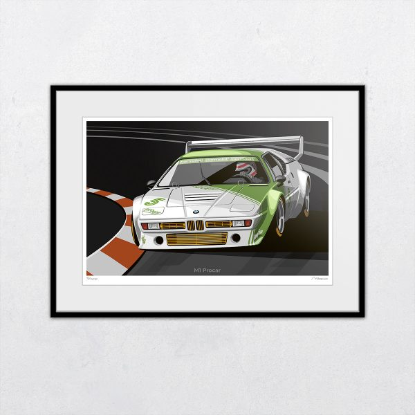 BMW M1 Procar driven by Nelson Piquet. Artwork by Miroslav Dimitrov