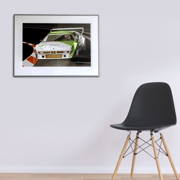 BMW M1 Procar driven by Nelson Piquet. Artwork by Miroslav Dimitrov
