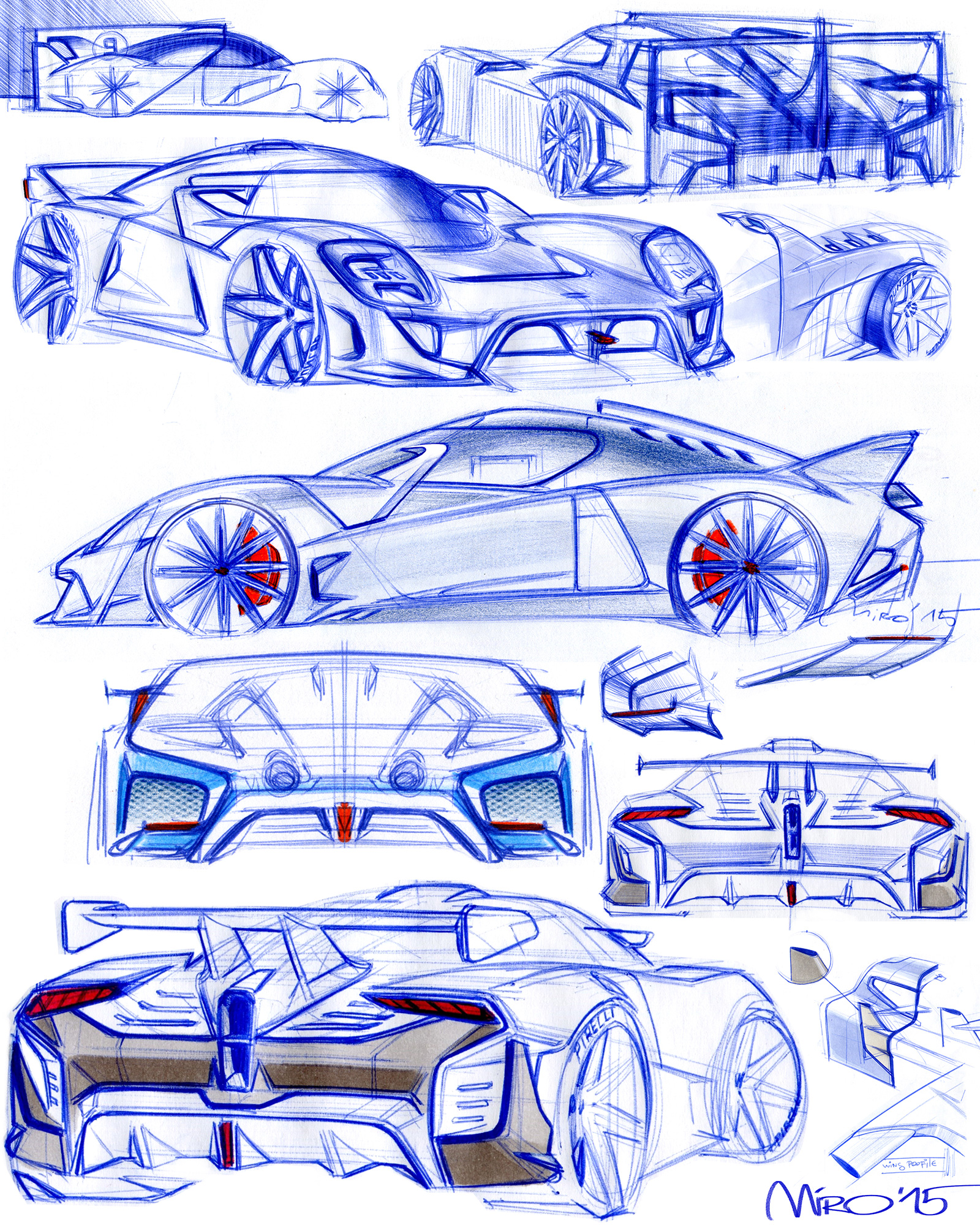 EIDO GTR Concept. Rear End Sketches by Miroslav Dimitrov | Copyright © 2018 Miroslav Dimitrov