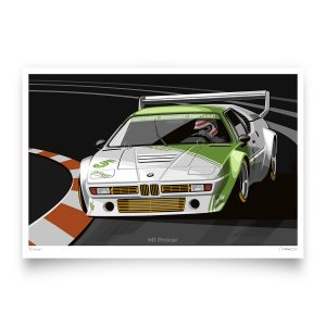 1980 BMW M1 Procar Artwork by Miroslav Dimitrov