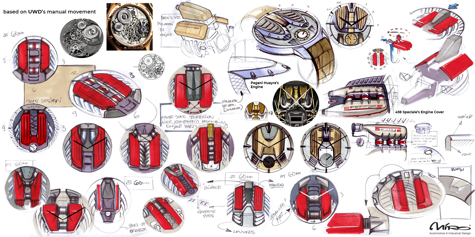 Luxury Watch Design Sketches by Miroslav Dimitrov