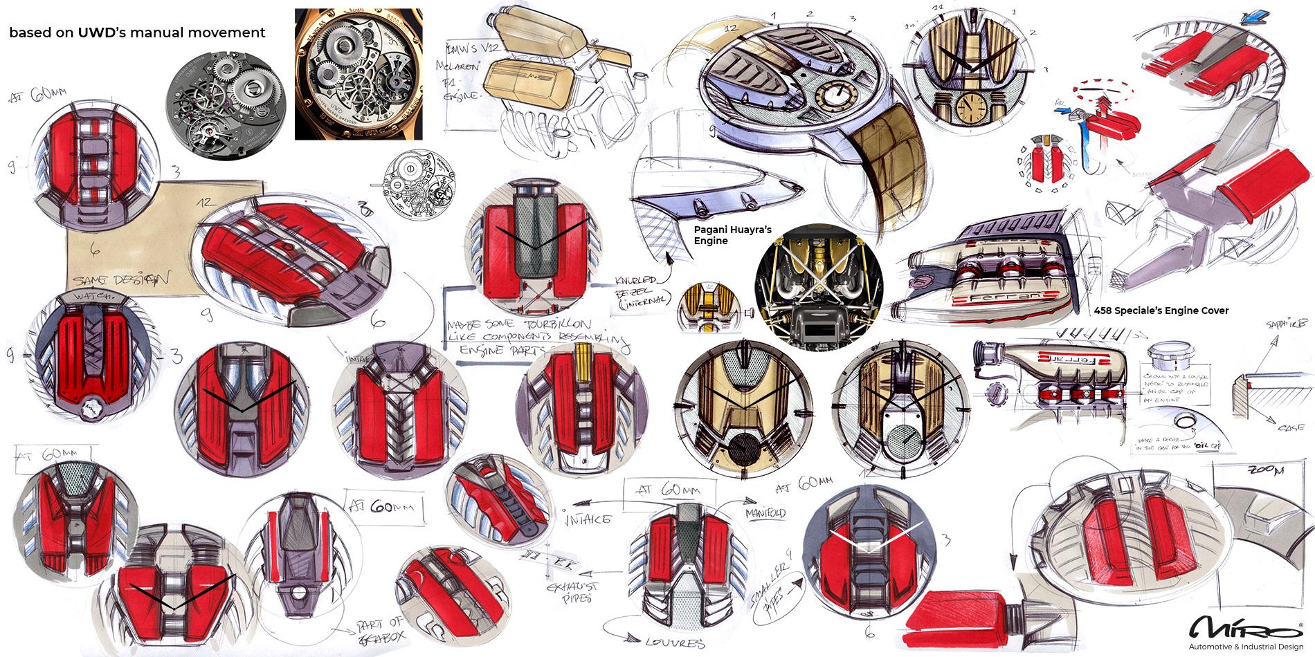 Luxury Watch Design Sketches by Miroslav Dimitrov