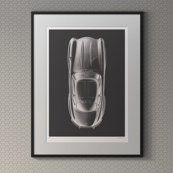 1955 Mercedes-Benz Gullwing Artwork by Miroslav Dimitrov