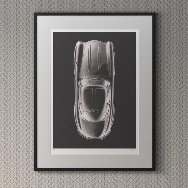 1955 Mercedes-Benz Gullwing Artwork by Miroslav Dimitrov