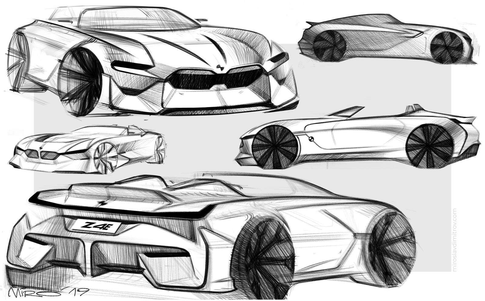 BMW Z4 Electric, Design Sketch by Miroslav Dimitrov © 2019 Miroslav Dimitrov