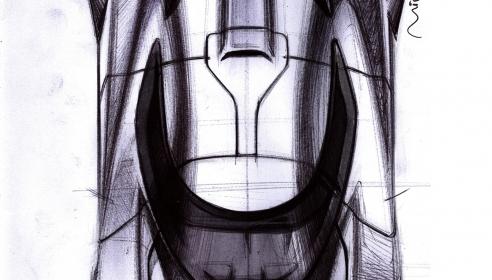 EIDO MA001 Concept. Top view pen sketch by Miroslav Dimitrov