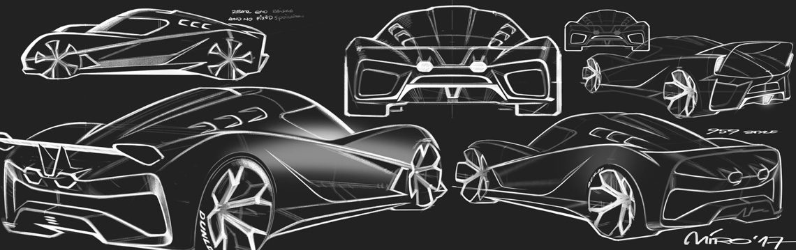 EIDO Sportscar Concept Design Sketch by Miroslav Dimitrov | Copyright © 2017 Miroslav Dimitrov